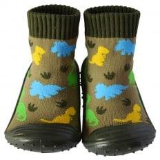 Chaussons-chaussettes enfant antidérapants semelle souple | Dinosaures