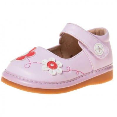Little Blue Lamb - Scarpine bimba primi passi con fischietto | Rosa fiore rosa