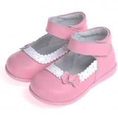 CAROCH - Krabbelschuhe Babyschuhe  Leder - Mädchen | Rosa model Zeremonie