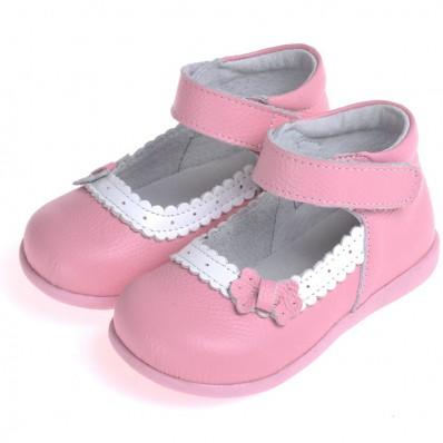 CAROCH - Chaussures semelle souple | Babies rose cérémonie
