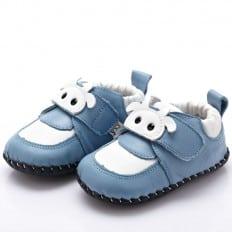 YXY - Zapatos de bebe primeros pasos de cuero niños | Vaca blanca