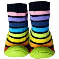 Hausschuhe - Socken Baby Kind geschmeidige Schuhsohle Junge | Schwarze Kratzer