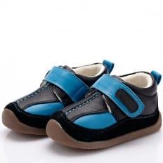 YXY - Zapatos de suela de goma blanda niños | Zapatillas de deporte azules y negras