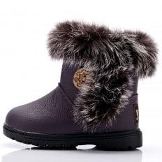 YXY - Zapatos de suela de goma blanda niñas | Botas moradas