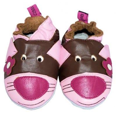 Chaussons bébé cuir souple | Souris