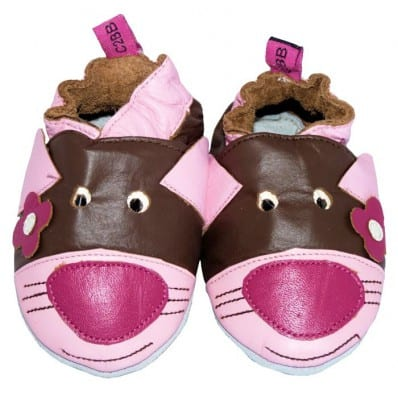 Soft leather baby shoes girls | Mouse
