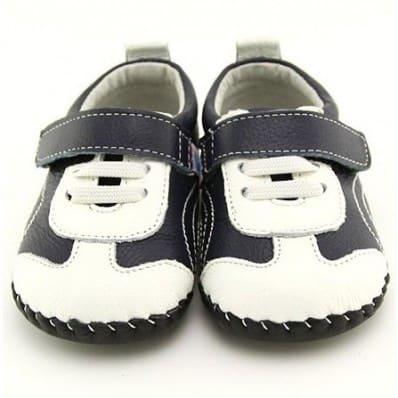 FREYCOO - Scarpine primi passi bimba in morbida pelle   Sneakers blu