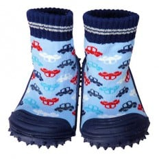 Hausschuhe - Socken Baby Kind geschmeidige Schuhsohle Junge | Autos