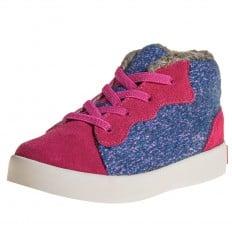 Little Blue Lamb - Scarpine suola morbida - ragazza | Sneakers blu rosa velluto