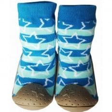 Calcetines con suela antideslizante para niños   Estrella azul