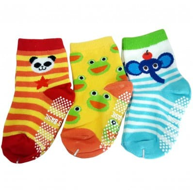 3 pairs of boys anti slip baby socks children from 1 to 3 years old | item 38