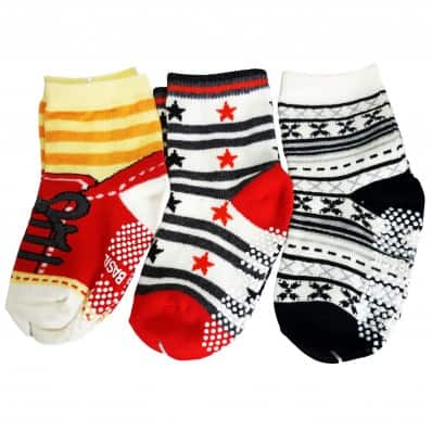 3 pairs of boys anti slip baby socks children from 1 to 3 years old | item 29