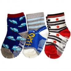 3 paires de chaussettes antidérapantes bébé enfant de 1 à 3 ans | Lot 1