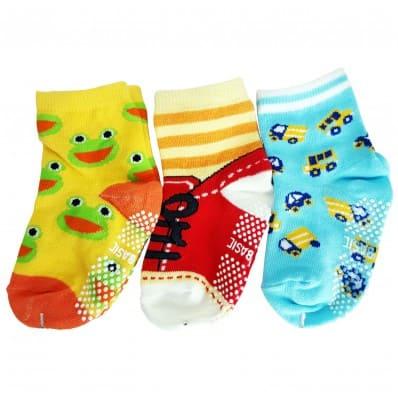 3 paires de chaussettes antidérapantes bébé enfant de 1 à 3 ans | Lot 6