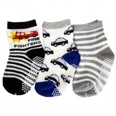 3 paires de chaussettes antidérapantes bébé enfant de 1 à 3 ans | Lot 4