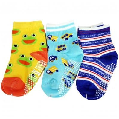 El Lot de 3 calcetines antideslizante para niños | Lot 7