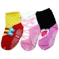 3 paires de chaussettes antidérapantes bébé enfant de 1 à 3 ans | Lot 27