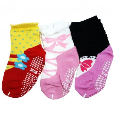 El Lot de 3 calcetines antideslizante para niñas | Lot 27