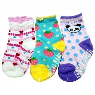 3 pairs of girls anti slip baby socks children from 1 to 3 years old | item 28