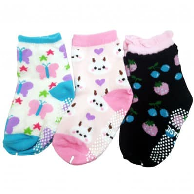 3 pairs of girls anti slip baby socks children from 1 to 3 years old | item 9
