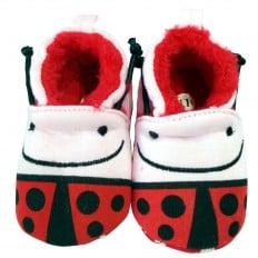 Chaussons bébé enfant toile et tissu | Madame coccinelle