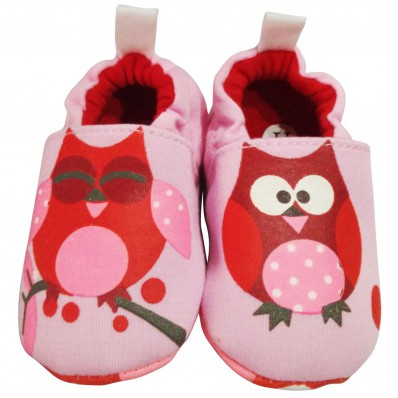 Soft cotton baby girls shoes | Owl