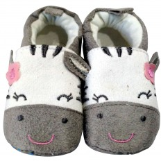 Babyschuhe baumwolle mädchen | Zebra