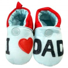 Soft cotton baby girls shoes | I love dad
