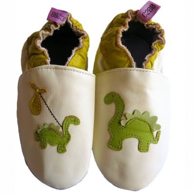Krabbelschuhe Babyschuhe geschmeidiges Leder - Junge | Dinosaurier