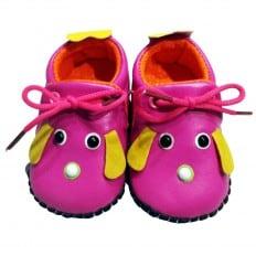 C2BB - Chaussures premiers pas cuir souple | Mr shoes rose