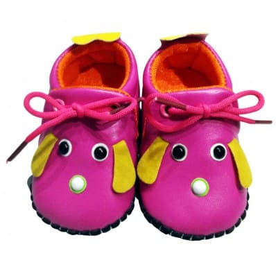 C2BB - Baby girls first steps soft leather shoes | Mr shoes yellow