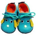 C2BB - Baby boys first steps soft leather shoes | Mr shoes blue