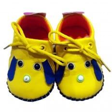 C2BB - Krabbelschuhe Babyschuhe Leder - Mädchen | Mr shoes gelb