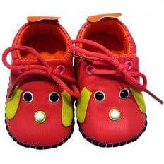 C2BB - Baby girls first steps soft leather shoes | Mr shoes Raspberry
