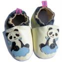 Chausson bébé cuir souple | Panda
