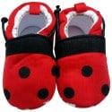 Zapatillas tejido para niños   Rojo y negro