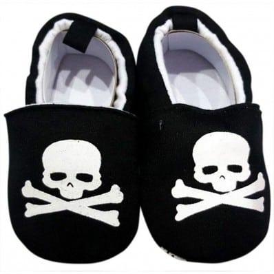 Chaussons bébé enfant toile et tissu | Pirate