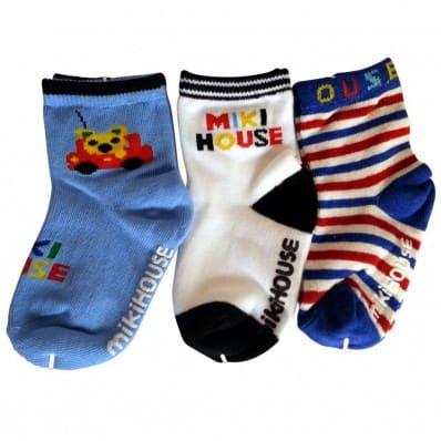 3 paia di calzini antisdrucciolo bambino di 1 a 3 anni | Ragazzo 23