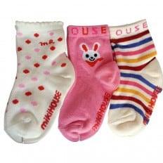 3 paia di calzini antisdrucciolo bambino di 1 a 3 anni | Ragazza 18