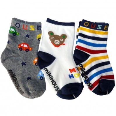 3 pairs of boys anti slip baby socks children from 1 to 3 years old | item 25