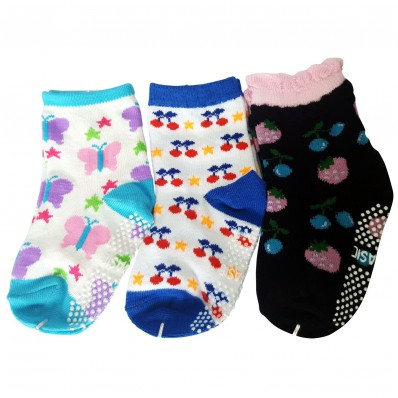 3 pairs of girls anti slip baby socks children from 1 to 3 years old | item 17