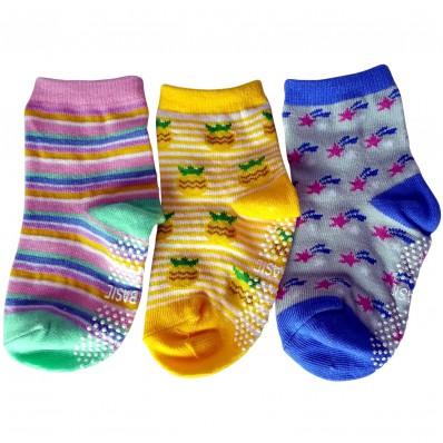 3 paires de chaussettes antidérapantes bébé enfant de 1 à 3 ans | Lot 13