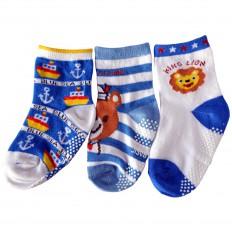 3 paia di calzini antisdrucciolo bambino di 1 a 3 anni   Ragazzo 34