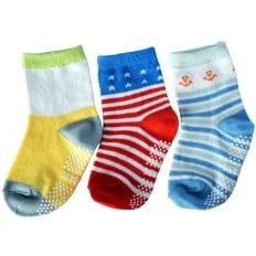 El Lot de 3 calcetines antideslizante para niños | Lot 36