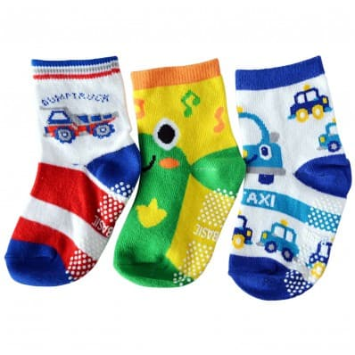 3 paires de chaussettes antidérapantes bébé enfant de 1 à 3 ans | Lot 33