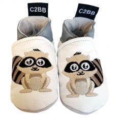 Soft leather baby shoes | Raccoon