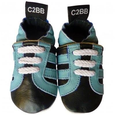 Krabbelschuhe Babyschuhe geschmeidiges Leder - Junge | Schwarz sneakers