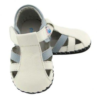 Chaussures bebe premiers pas cuir souple sandales fermées