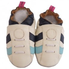 Soft leather baby shoes boys   White sneakers