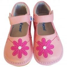 FREYCOO - Zapatos de cuero chirriantes - squeaky shoes niñas | Babies rosa